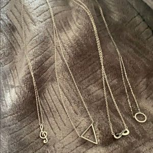 4 sterling silver necklaces